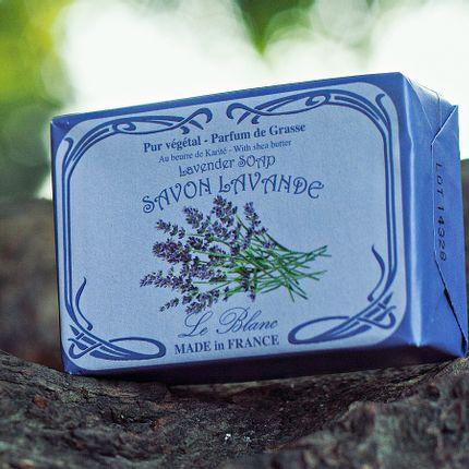 Savons - Savon Lavande 100g illustré - LE BLANC