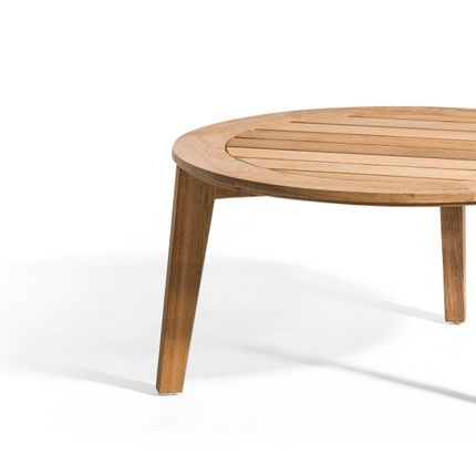 Coffee tables - ATTOL teak side table 70cm - OASIQ