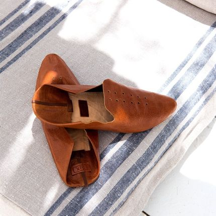 Spa and wellness - SLIPPERS HAND MADE  IN LEATHER - BARAA