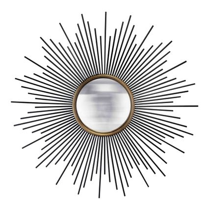 Miroirs - MIROIR SOLEIL NOIR/OR CONVEXE METAL - EMDE