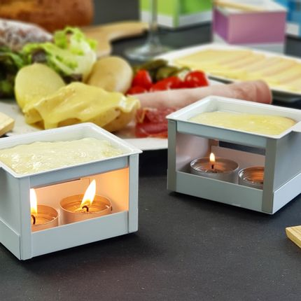 Frying pans - RACLETTE WITH TEA-LIGHT AND REMOVABLE  - COOKUT
