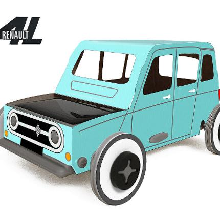 Loisirs créatifs - Autogami - Renault 4L Bleue - LITOGAMI