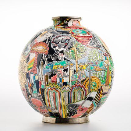 Vases - Boule Coloniale NOUVEAU MONDE - EMAUX DE LONGWY 1798