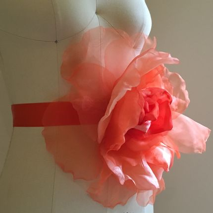 Scarves - LOVE SASH - CORAL - LOVE LIVES HERE OX.
