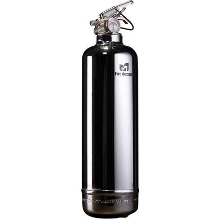 Kitchen Furniture - Designer fire extinguisher Chrome - FIRE DESIGN