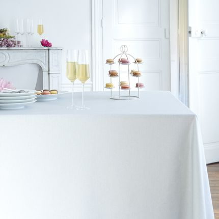 Kitchen fabrics - Wipeable tablecloth Silver Sparkles - FLEUR DE SOLEIL