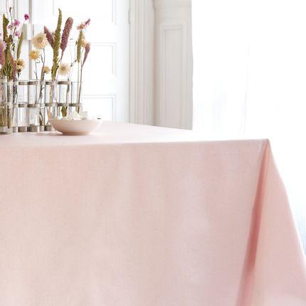 Linge de table - nappe enduite Nappe enduite Pailletée Rose - Fleur de Soleil