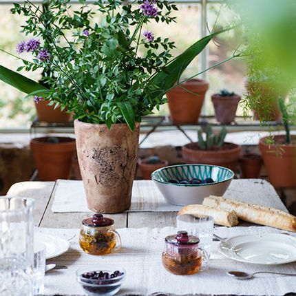 Kitchen fabrics - Linen Table runner - GOVOU FABRICS