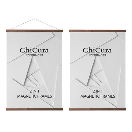 Wall decoration - ChiCura 2 In 1 Magnetic Frames - Dark Brown - CHICURA COPENHAGEN