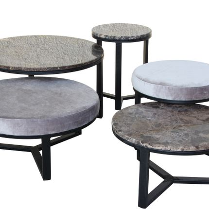 Tables basses - SPLENDIDUS TABLE + POUF SET - WR INSPIRED