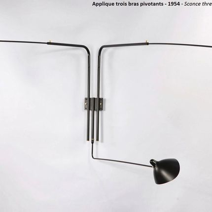 Wall lamps - Wall lamp 3 swivel arms. - EDITIONS SERGE MOUILLE