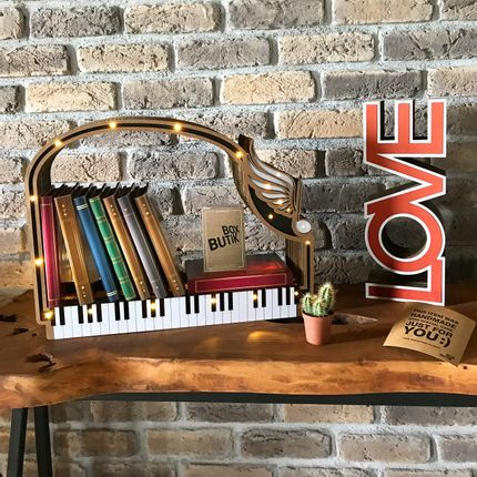 Wall decoration - PIANO BOOKSHELF - BOX BUTIK