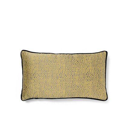 Objets de décoration - Coussin géométrique jaune Wachuma - COVET HOUSE