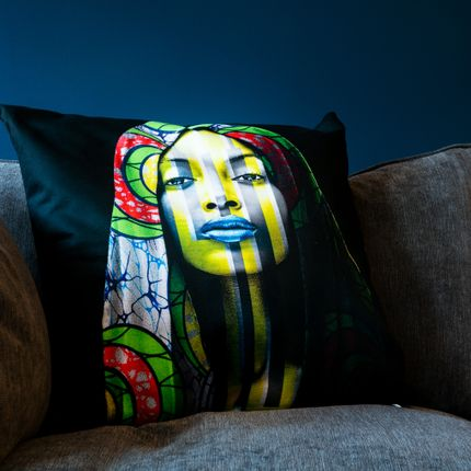 Cushions - Pillow DZIVAGURU BLACK by Human Indigo - ARTPILO
