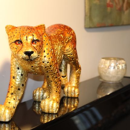 Decorative objects - GOLD CHEETAH - 45cm - BARCINO