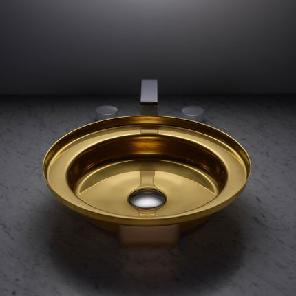 Spas - NARCIS round shiny brass, stainless steel plug - BASSINES