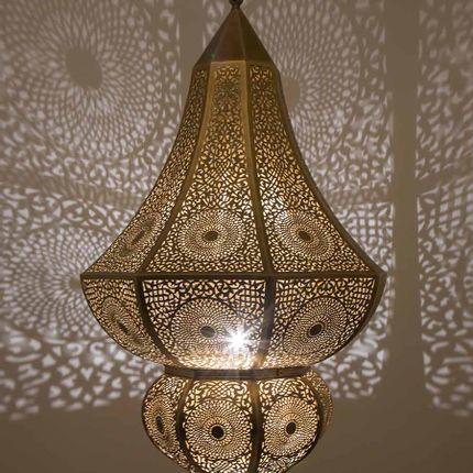 Suspensions -  Plafonnier ASNI - Laiton Antique (Grand) - Moroccan Bazaar
