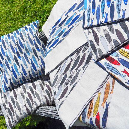 Kitchen fabrics - LINGE DE MAISON THEMATIQUE ANIMAUX - BLEU CALADE