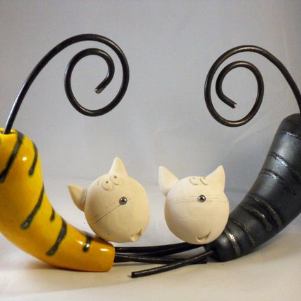 Sculptures / statuettes / miniatures - Animaux en céramique - BLEU CALADE