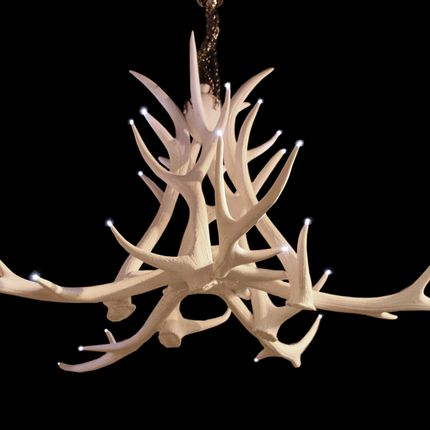 Suspensions - RESIN ANTLER CHANDELIER - CLOCK HOUSE FURNITURE