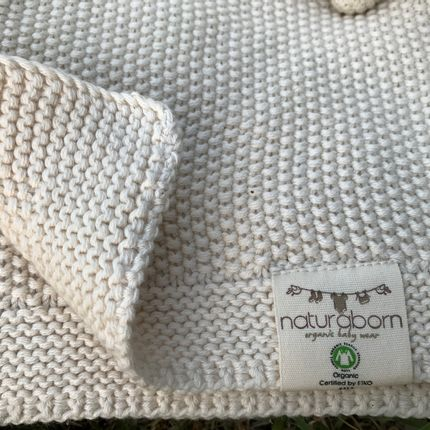 kids linen - Organic Cotton Tricot Baby Blanket - NATURABORN