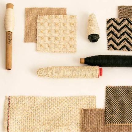 Upholstery fabrics - WEAVE FABRICS with natural fibers (Raffia, Cotton, Flax, Jute) - RAFIAS PRISIM NATURAL FABRICS