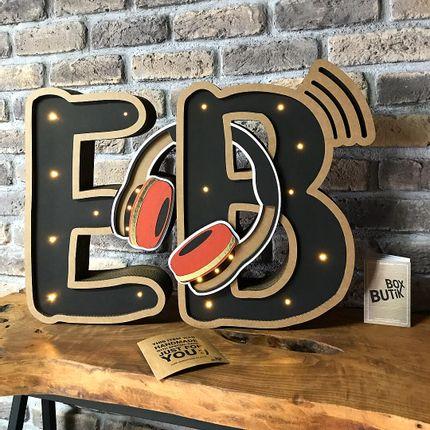Objets personnalisables - E & B INITIALS - BOX BUTIK