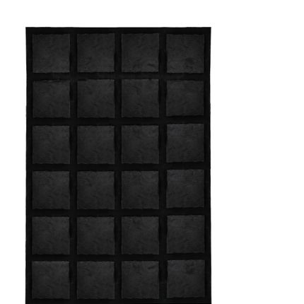 Rugs - Cowhide with Merino Lamp Jet Black - KOKET