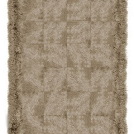 Rugs - Cowhide with Mongolian Goat Cream - KOKET