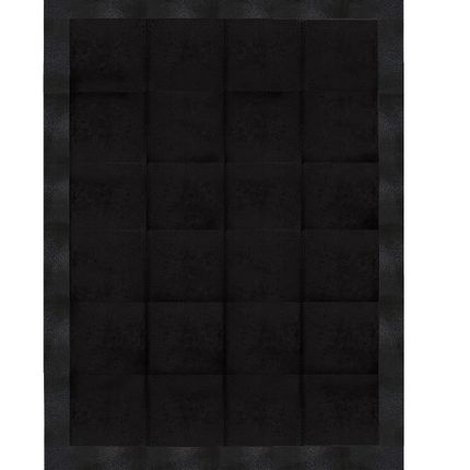 Rugs - Stingray Embossed with Cowhide Jet Black - KOKET