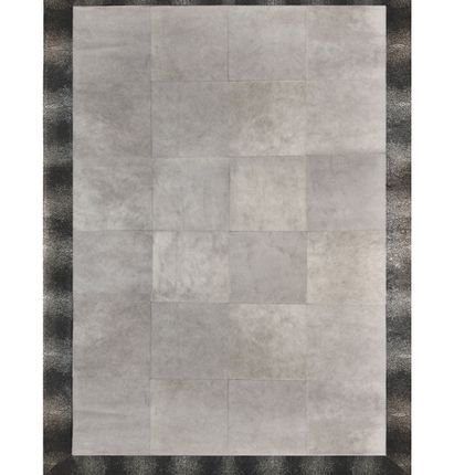Rugs - Cowhide Embossed with Cowhide Pewter - KOKET