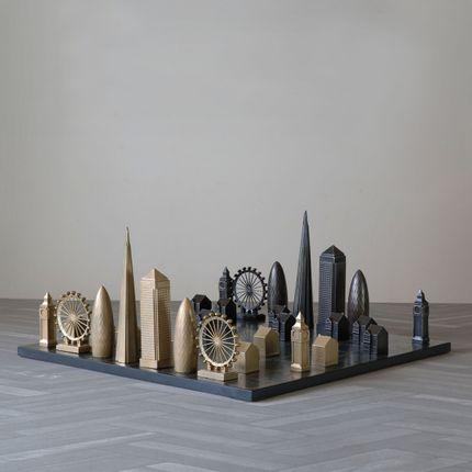 Design objects - Luxury Solid Bronze London Edition - SKYLINE CHESS