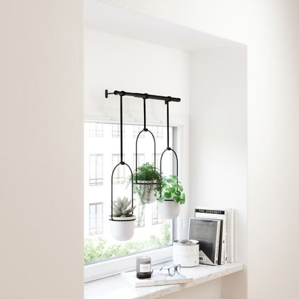 Objets de décoration - TRIFLORA HANGING PLANTER WHITE - UMBRA