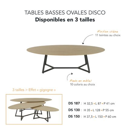 Tables basses - TABLES BASSES DISCO - MARK - MOBILIER CONTEMPORAIN FRANCAIS