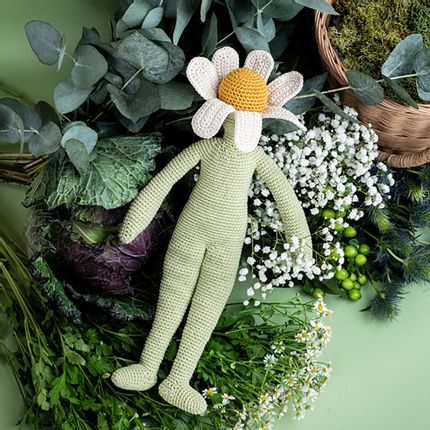 Soft toy - Camille Chamomile, flower doll .... - MYUM - THE VEGGY TOYS