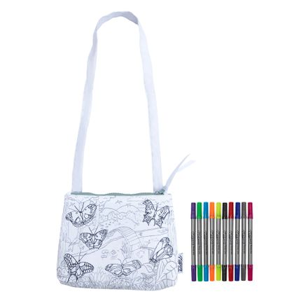 Creative Hobbies - colour & learn butterfly crossbody bag - EATSLEEPDOODLE