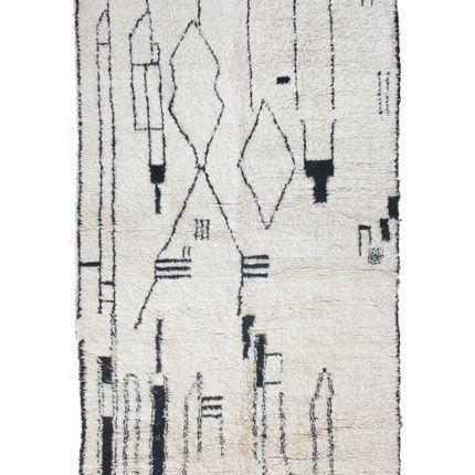Classic - TAA1270BE Berber Rug Beni Ourain - 280x150 cm - 110.2X59.1 in - AFOLKI BERBER RUGS
