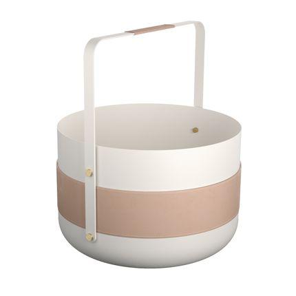 Design objects - WOOD BASKET EMMA - Blanc - ELDVARM