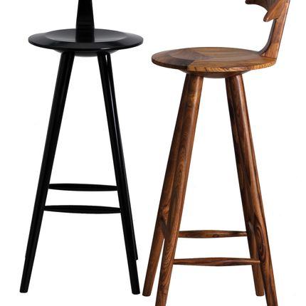Chairs - Udita: A wooden bar stool - Alankaram