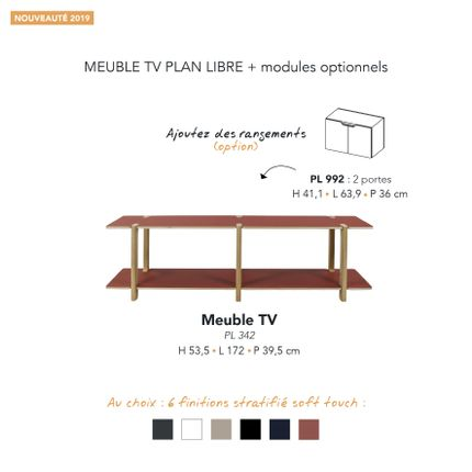Buffets - MEUBLE TV PLAN LIBRE - MARK - MOBILIER CONTEMPORAIN FRANCAIS