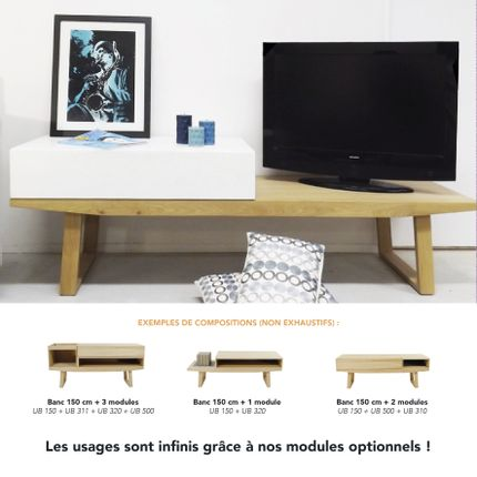 Tables basses - BANC / TABLE BASSE URBAN - MARK - MOBILIER CONTEMPORAIN FRANCAIS