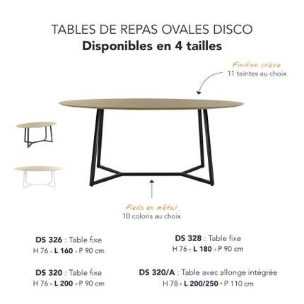 Tables - TABLE DE REPAS DISCO - MARK - MOBILIER CONTEMPORAIN FRANCAIS
