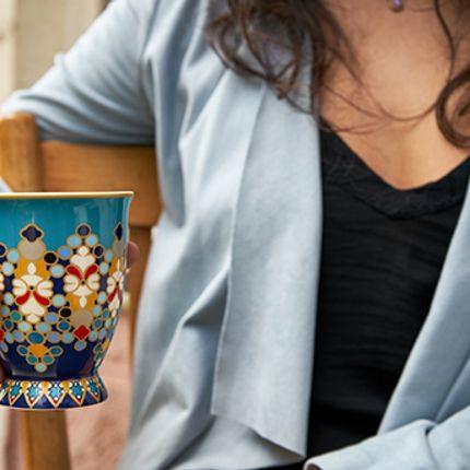 Accessoires thé / café - Sursock Vitrail Dessous de Verre - IMAGES D'ORIENT