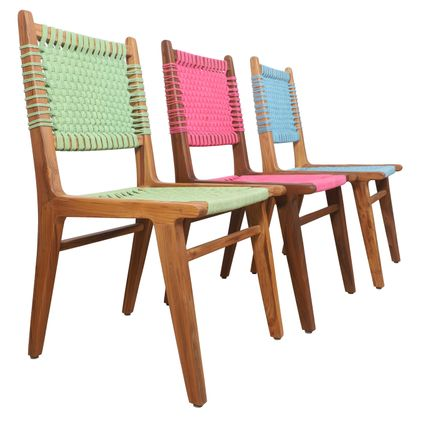 Chairs - Asandi: A weaved wooden chair - Alankaram