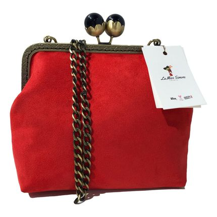 Bags / totes - Retro Red Pearl Square Bag - La Miss Simone
