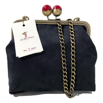 Bags / totes - Square Bag Retro Beads black - LA MISS SIMONE