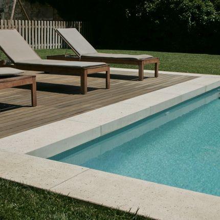 Piscines - Margelle de piscine en L - ROUVIERE COLLECTION