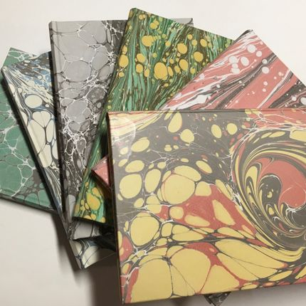 Stationery store - A5 marbled paper notebook - LEGATORIA LA CARTA