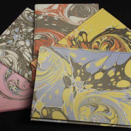 Papeterie - Carnet papier marbré 12 x 17 cm - LEGATORIA LA CARTA
