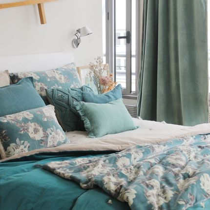 Throw blankets - METIS Quilt linen and coton - EN FIL D'INDIENNE...